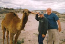 Bill, Jeff and a camel